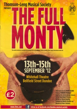 The Full Monty 2012 programme cover